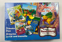 Disney's Pooh Collection Read-Alongs Stories - 3 Books - On Cassette/CD NEW