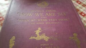 SONGS FROM NOW WE ARE SIX & WHEN WE WERE VERY YOUNG A.A.MILNE HMV B2621-78-79
