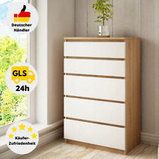 Dresser Sideboard With 5 Drawers Oak Wood Sideboard Wardrobe Modern Highboard