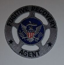 PATCH - FRA Marshal style  silver round 2.75 inches unisex cotton blend