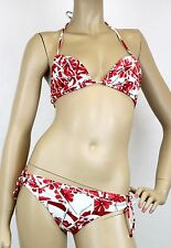 $595 NEW Authentic Gucci Floral Swimsuit Swim Suit Bikini, Red/White, S, 235567