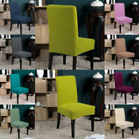 Stretch Dining Chair Covers Slipcovers Removable Banquet Protective Cover US