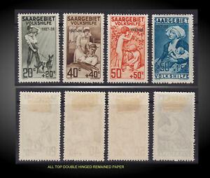 1927 SAAR SEMI POSTAL CHARITY OVP. 1927-28 LITTLE H SCT.B5-B8 MICHEL 122-125