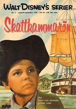 Vtg Rare Skattkammarön Treasure Island 1963 Nr.6 Comics Book Magazine In Swedish