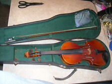 """Antique Violin """"Copy of Stradivarius Germany"""" with Germany Bow in Case"""