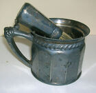 1895 Antique Valentine & Linsley Shaving Brush & Mug Quadruple Silver Plated 3pc