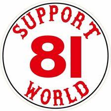 053g HELLS ANGELS Support 81 World Sticker rund klein für Helm Big Red Machine
