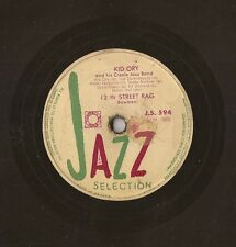 "10"" - 78 RMP - KID ORY - 12 th Street Rag - JAZZ - J.S. 594 - FRANCE - Dixieland"