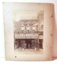 Old grocery store, Santa Rosa, California; cabinet photo history Sonoma County