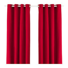 IKEA Merete Pair of Curtains 145cm X 300cm Each Red