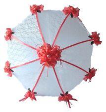 Bridal Shower Decorated umbrella parasol hot pink