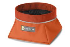 Ruffwear Portable Fabric Dog Bowl Medium Pumpkin Orange Quencher