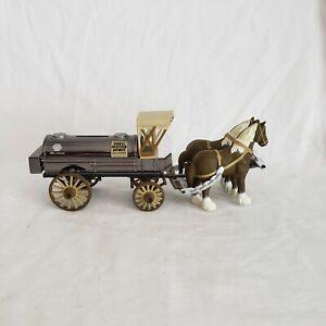 ERTL Horse and Wagon Bank Shell Motor Spirit Locking Coin Bank