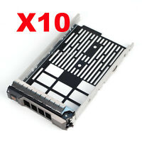 "10pcs 3.5"" SATA SAS Drive Tray Caddy KG1CH For Dell R430 R530 R630 R730 R730XD"