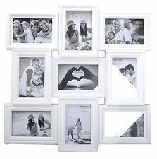 Ornate White 9 Aperture Multi Photo Frame