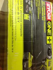 New Ryobi 18v Lithium-Ion 1/2-in Cordless Battery Compact Drill Driver Kit Tool
