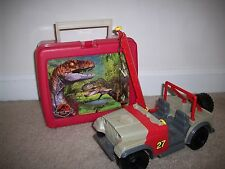 Vintage Kenner 1993 Jurassic Park Jeep Bush Tracker Red Thermos Co Lunch Box Lot