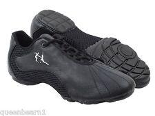 Latin Salsa Very Fine Dance Ballroom Men's Sneaker VFSN016 Black Leather