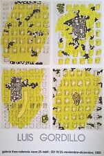GORDILLO - CARTEL EXPOSICIÓN ORIGINAL 1989 - Medidas 68 x 46 cm. Aprox.