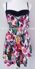 NWT HELL BUNNY PIN UP SKULL & ROSES DRESS SZ XL 12 14
