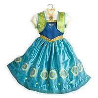 Disney Store Anna Dress Up Frozen Fever Princess Halloween Costume 5/6 7/8 9/10