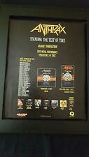 Anthrax Persistence Of Time Rare Original Grammy Promo Poster Ad Framed!
