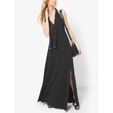 NWT Michael Kors Tie-Neck Jersey Maxi Dress L