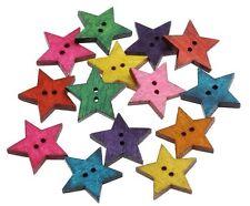 Cute Star Buttons 2.4cm 10 Pieces - Mixed Colours Australian Seller