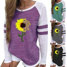 Women Long Sleeve T-Shirt Loose Ladies Blouse Printed Pullover Tops Plus Size