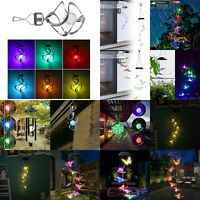 Color Changing LED Solar Light Wind Chime Lamp Colorful Garden Yard Decor Gifts