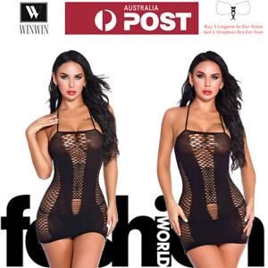 Fashion Women Sexy Lingerie Black Hollow Suspender Skirt Dress Bodysuit Leotard