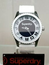 New Mens SUPERDRY Watch White Silicone strap Big face RRP£89 !! GENUINE (SD17