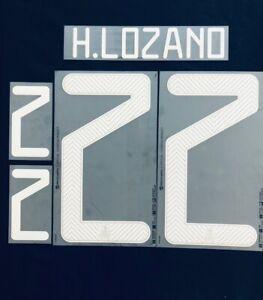 2020/21 Mexico #22 H.Lozano Home Soccer Name Set