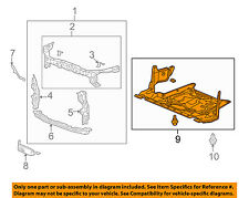 Acura HONDA OEM TSX Radiator Core Support-Engine Under Splash Shield 74110TL2A00