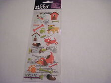 Scrapbooking Crafts Stickers Stickos Dogs Life Puffy House Bones Tick Paw Prints