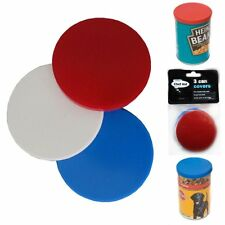 Chef Aid 3 Can Covers/Plastic Reusable Tin Lids Pet Food ets. Keeps Food Fresh