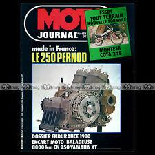 MOTO JOURNAL N°484 HONDA 360 RSC TRIAL EDDY LEJEUNE YAMAHA XT 250 PERNOD 1980