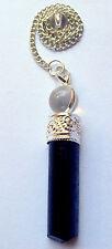 Natural Black Tourmaline Gemstone Pendant Quartz Men Women Jewelry Gift fashion