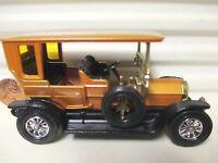 LESNEY MATCHBOX MODELS of YESTERYEAR Y5 ORANGEY GOLD 1907 PEUGEOT PaleAmberWINS*