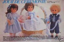 PUBLICITÉ JOUR DE CÉRÉMONIE POUPÉES MARIE-FRANÇOISE ET JEAN-MICHEL
