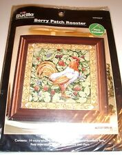 """BERRY PATCH ROOSTER"" COUNTED CROSS STITCH KIT"