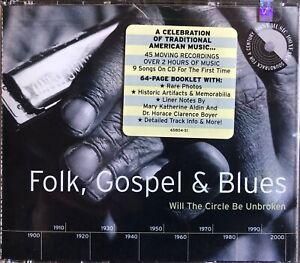 FOLK, GOSPEL, BLUES. Traditional American Music 2 CD-Box, 64p.Booklet