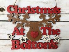 Christmas at the surname reindeer sign