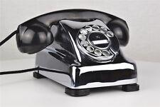 Vintage Antique Kellogg 1000 Redbar Rotary Dial Telephone Chrome Plated - 24953