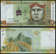 PERU 10 SOLES (P192) 2016 UNC