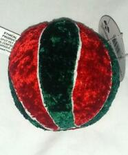 "Petz Plush Squeaky Dog Toy Basketball Red Green White 4"" New With Tag Nwt"