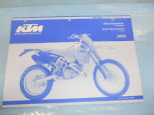 2002 KTM 125/ 200 SX MXC EXC SGP-GS Chassis Spare Parts Manual 320843