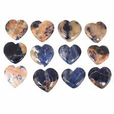 12 Stück Natürlich Sodalith Kanada Schönes Herz Form Lose Edelsteine 23mm-26mm