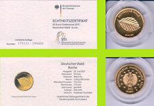 """2011 - 20 EURO - Deutscher Wald - Buche - Buchstabe """"F"""" - GOLD"""