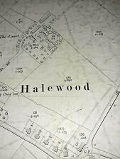 Old Antique Ordnance Map 1907 Lancashire CXIV.6 Liverpool Halewood & North End